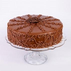 Viennа honey cake with mascarpone and apricot jam
