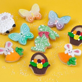 Hand decorated biscuits
