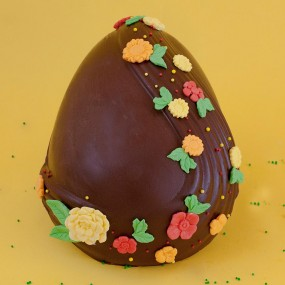 Easter egg with dark chocolate