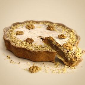 Walnut Pie with Orange and Chocolate