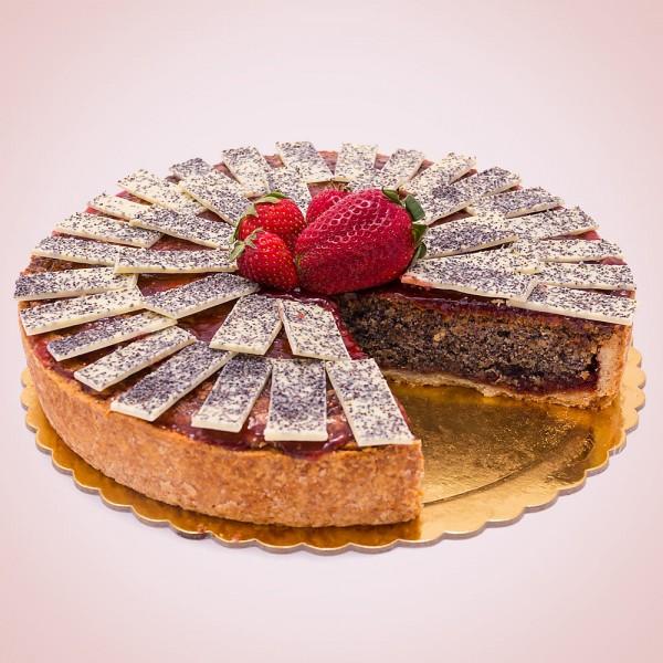 Strawberry Cake with Poppy Seeds