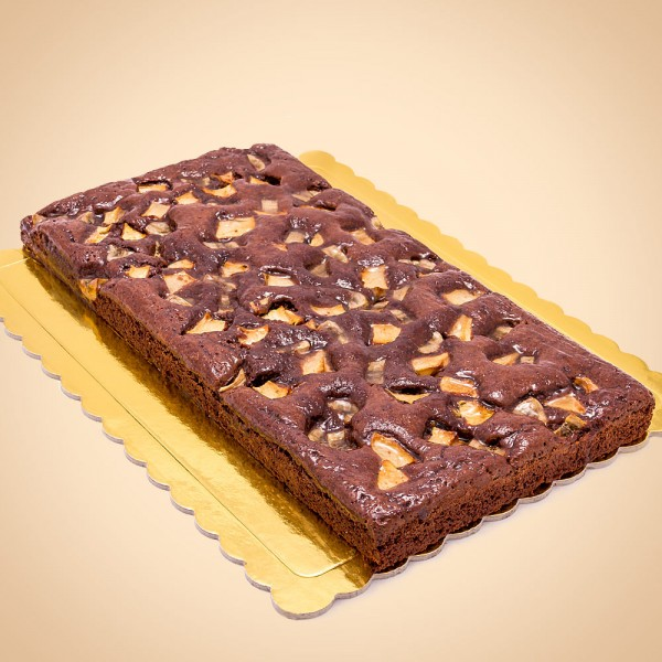 Brownie with Banana and Apple