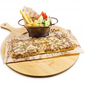 Sandwich with minced meat and cheese