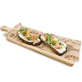 Bruschetta with ricotta and smoked salmon
